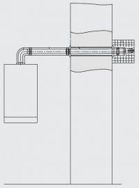 Коаксиальный проход через наружную стену 60/100