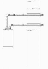 Параллельный проход через наружную стену