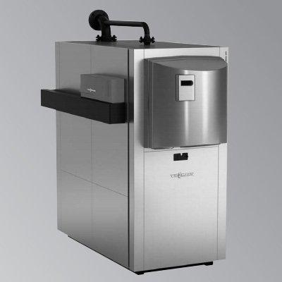 Viessmann Vitocrossal 300 CT3B однокотловая установка с контроллером для постоянной температуры подачи, котловой блок в сборе