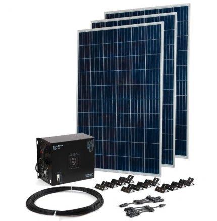 Комплект TEPLOCOM Solar-1500 + Солнечная панель 250 Вт х 3