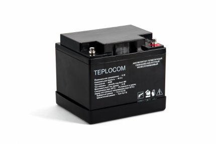 Аккумулятор герметичный свинцово-кислотный TEPLOCOM 40Ач